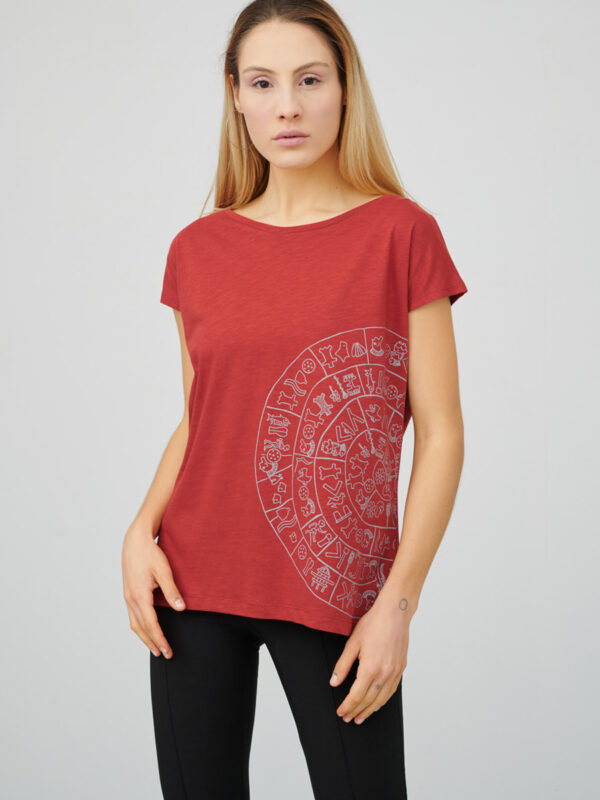womens_cap-sleeve-top_communication_firebrick-red_front_inspira
