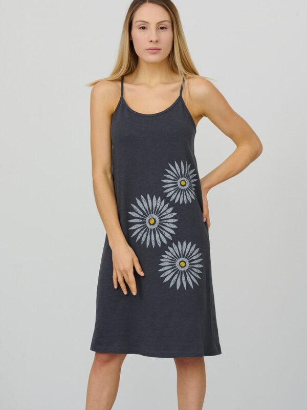womens_spaghetti-strap-short-dress_rosettes_charcoal-grey_front_inspira