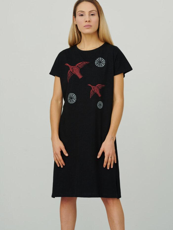 womens_loose-cap-sleeve-short-dress_pleiades_black_front_inspira