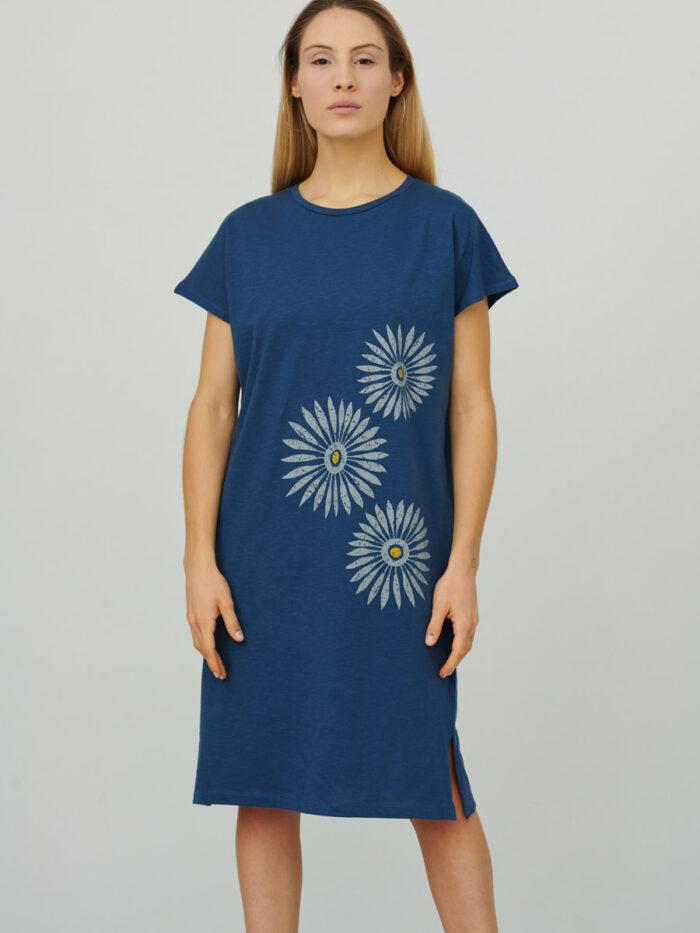 womens_loose-cap-sleeve-short-dress_rosettes_indigo_front_inspira